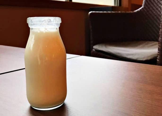 Onsen Milk on Table at Onsen Bath