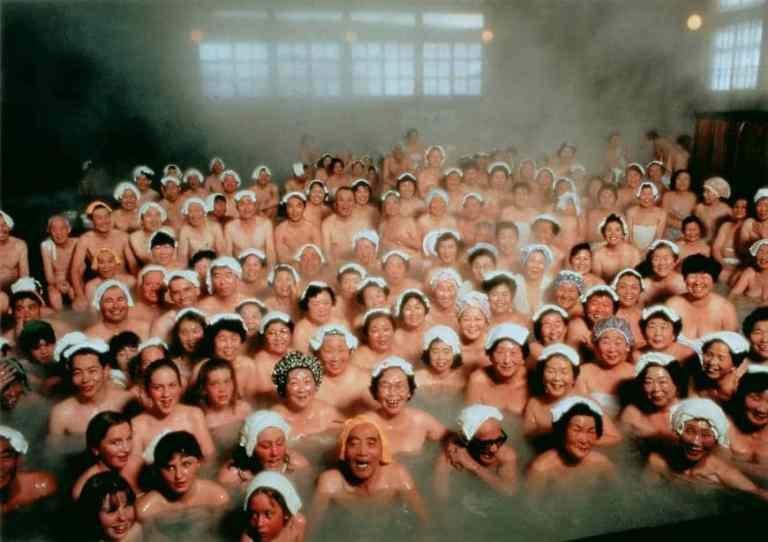 Bathers in Sukayu Onsen, located in the Aomori Prefecture