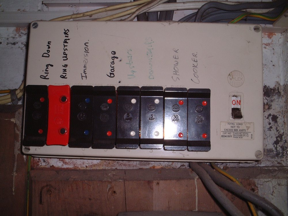 medium resolution of an old fuse box with wire fuses 132kv electricity pylon