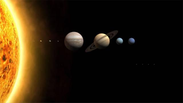 太陽と惑星の位置関係
