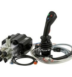 front loader valve 90l electric control joystick nv452ehp  [ 1000 x 1000 Pixel ]
