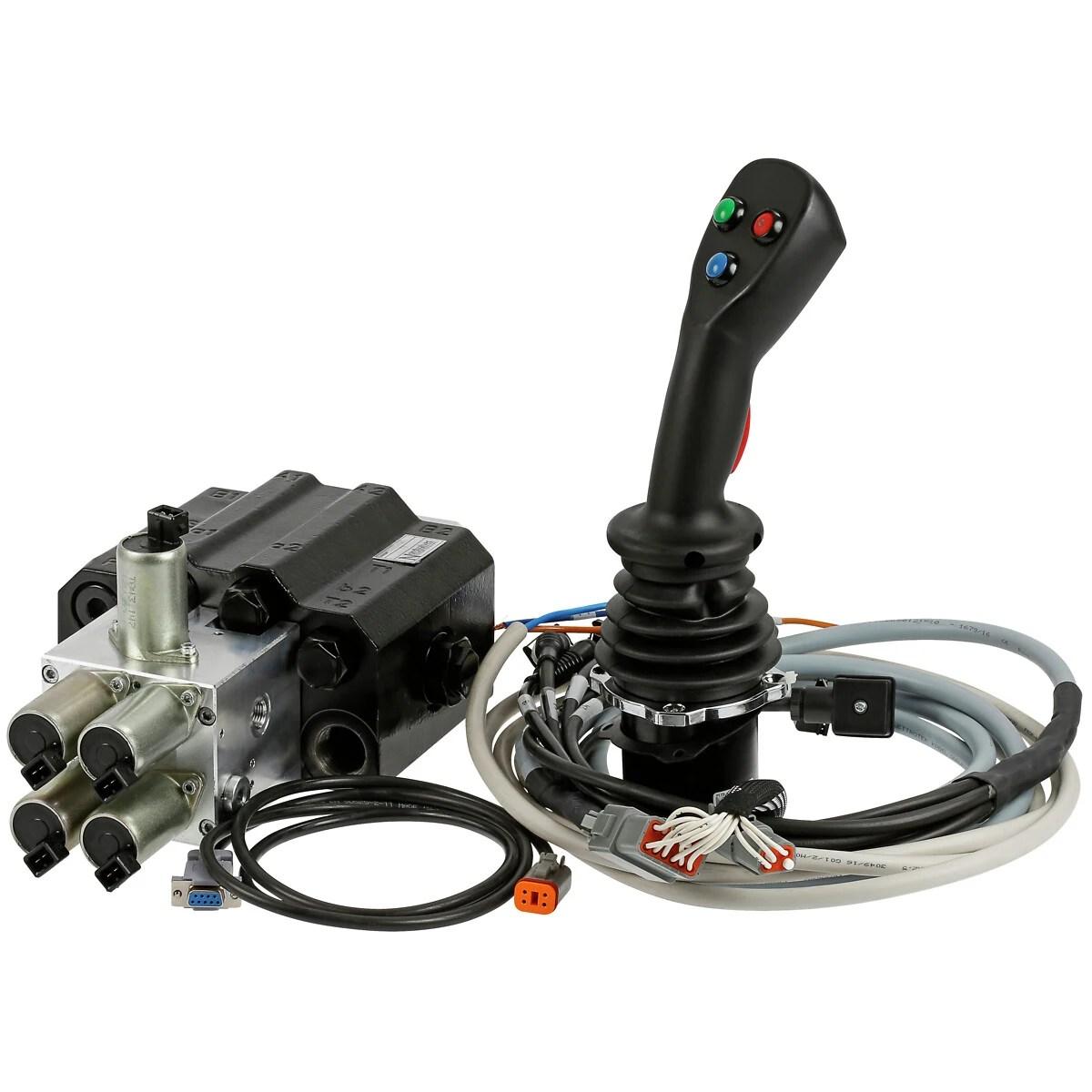 hight resolution of front loader valve 90l electric control joystick nv452ehp