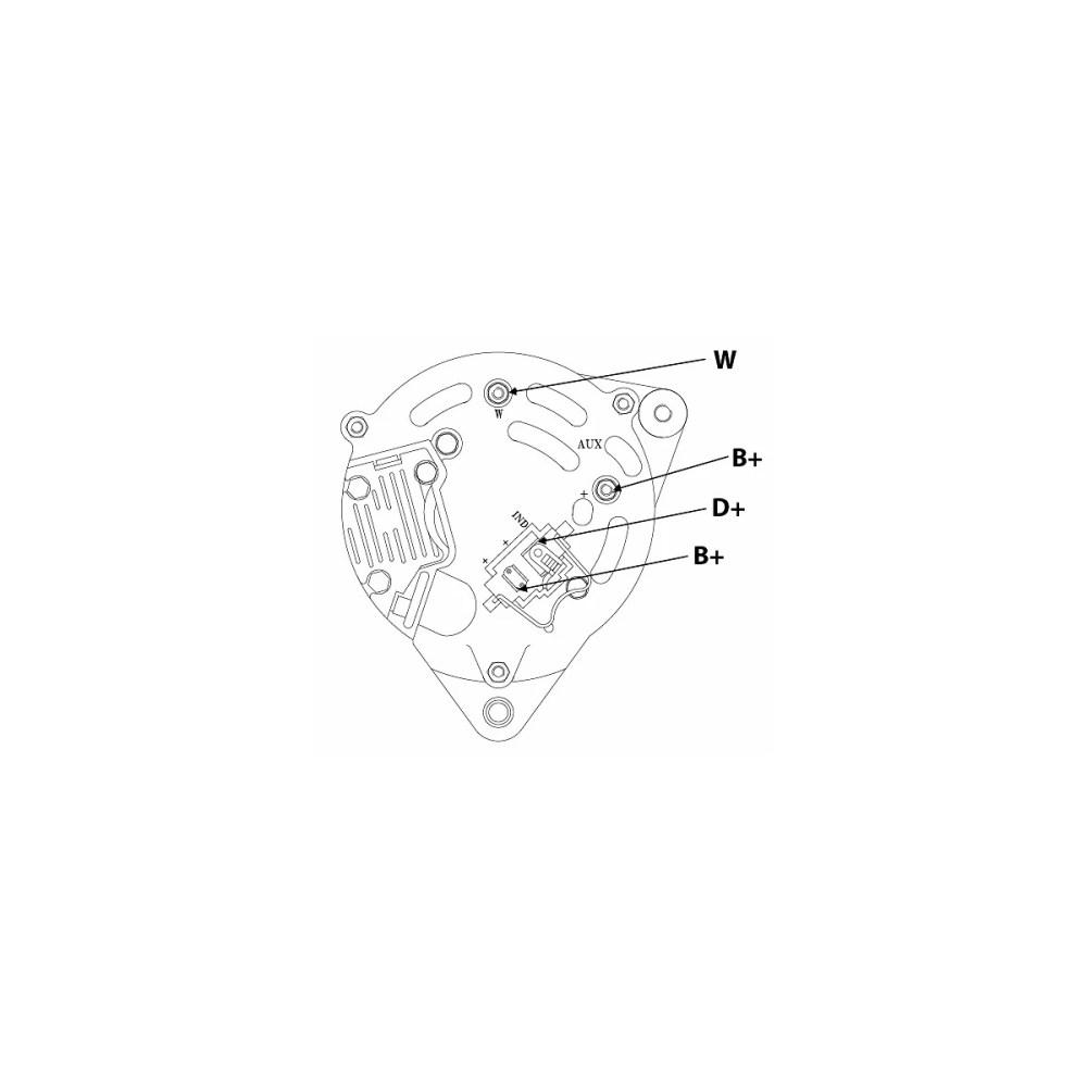 medium resolution of  alternator 70a valmet ford shaft 17mm st0215