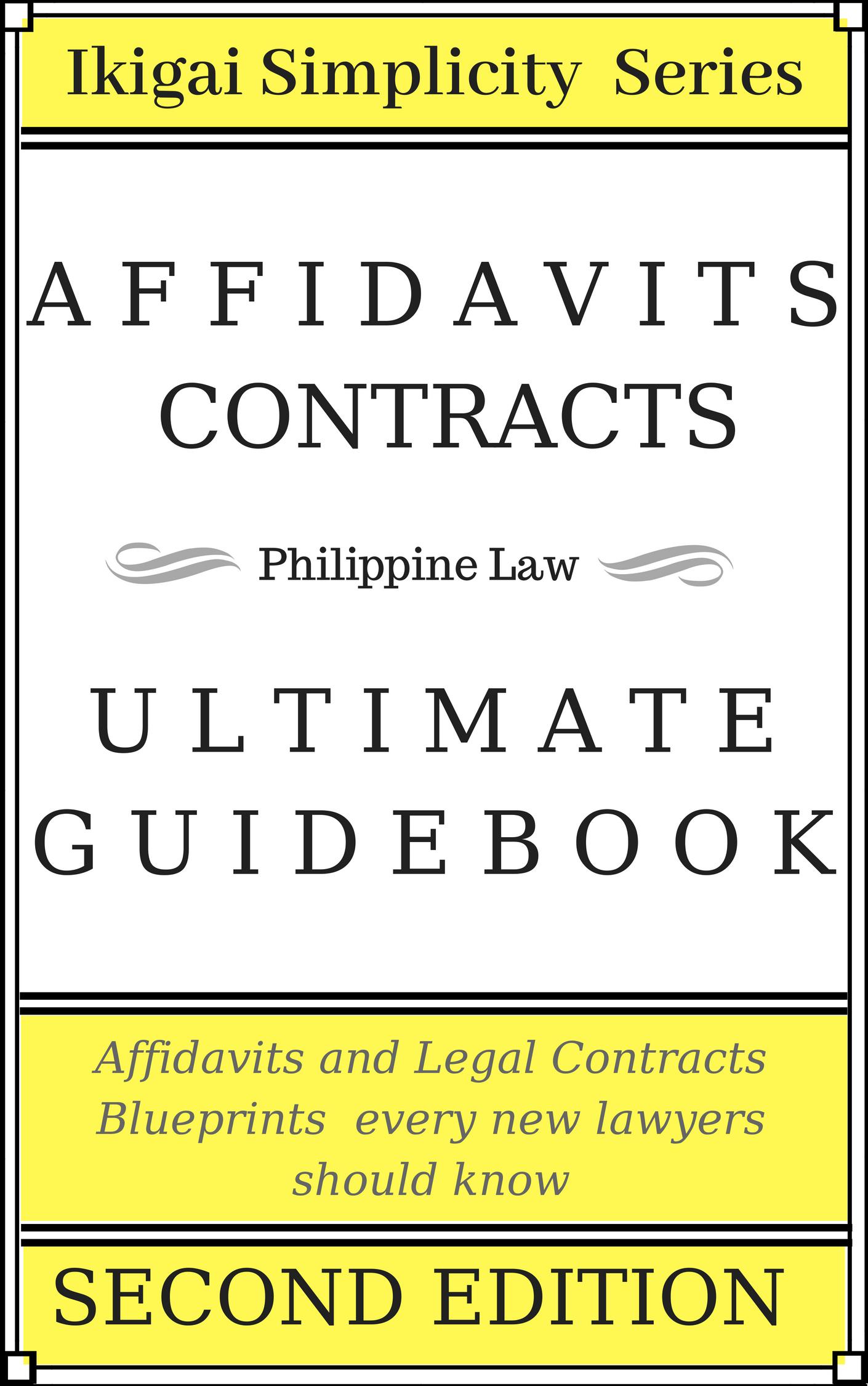Affidavit Blueprint Second Edition Coming soon!