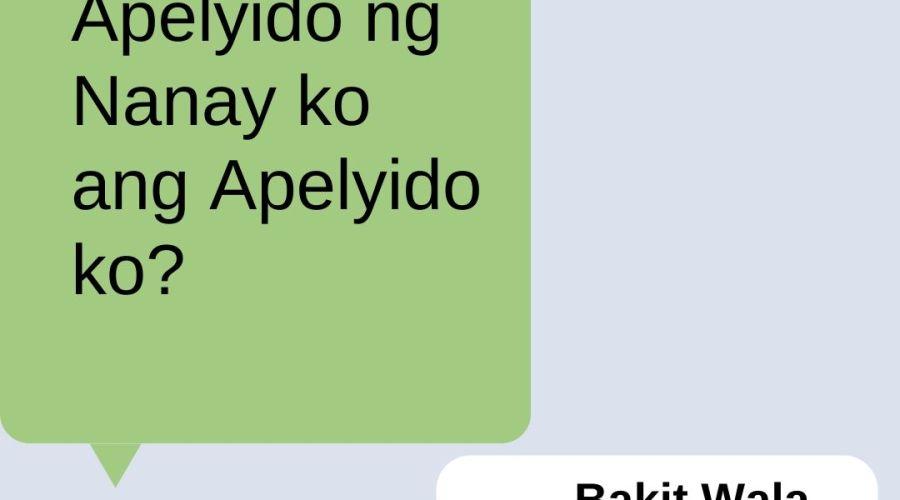 Bakit Wala Akong Middle Name?