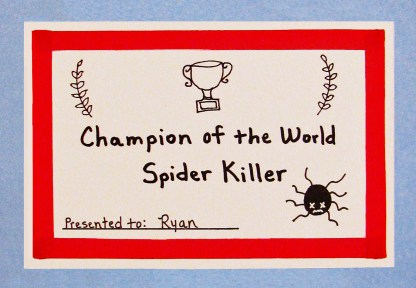 Champion of the World Spider Killer card