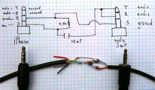 xlr to stereo jack wiring diagram 2000 toyota camry engine como hacer cables para usar tu iphone un osciloscopio - ikkaro