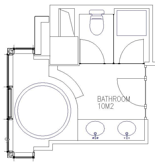 Hotel Design Guestroom Sample Bathroom Plan 4