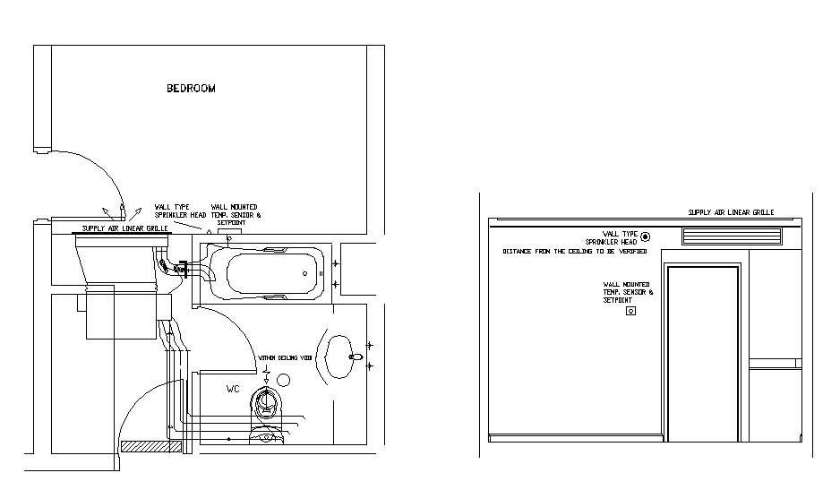Hotel Design Guestroom Sample Hvac Plan 1