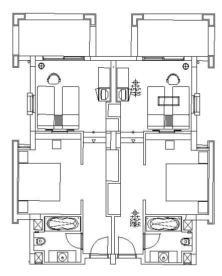 Hotel Design Guestroom Sample Plan 7