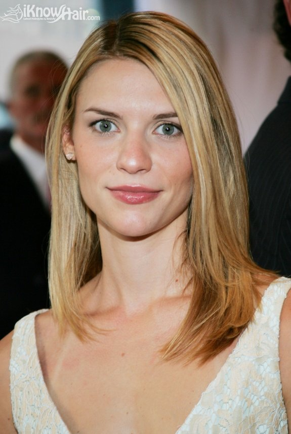 Claire Danes Hairstyles  Claire Danes Straight Side Swept Hairstyle