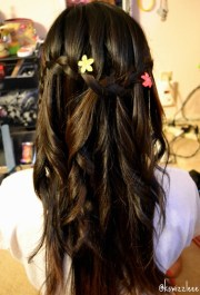 cascade and waterfall hairstyles