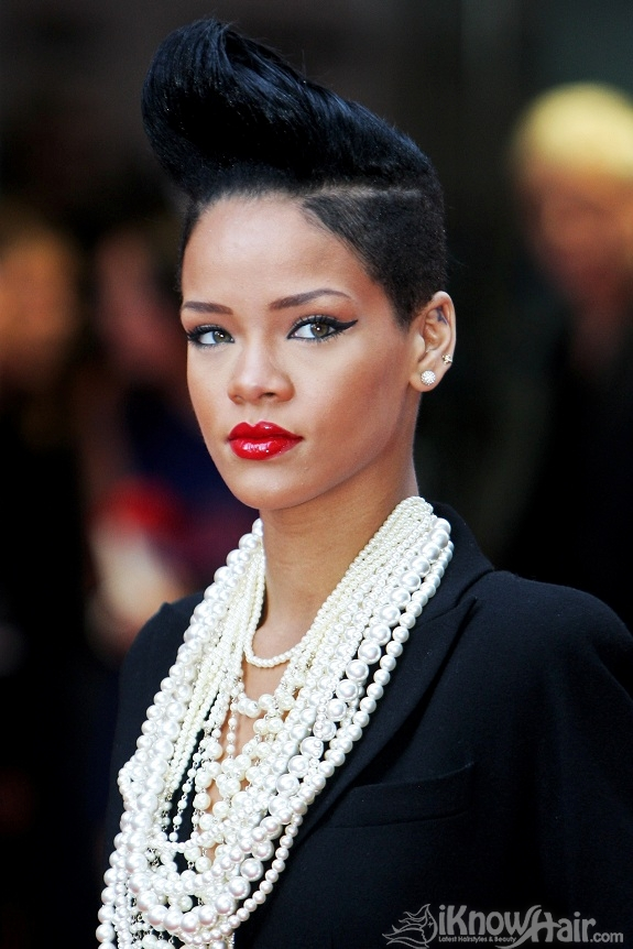 Rihanna Mohawk Hairstyles For Women