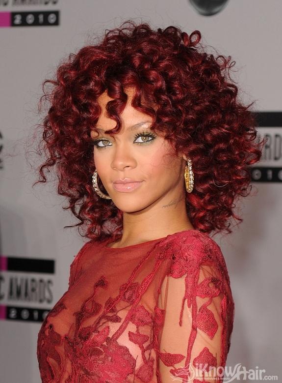 Rihanna Curly Hairstyles