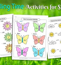 Spring Telling Time Activities [ 838 x 1200 Pixel ]