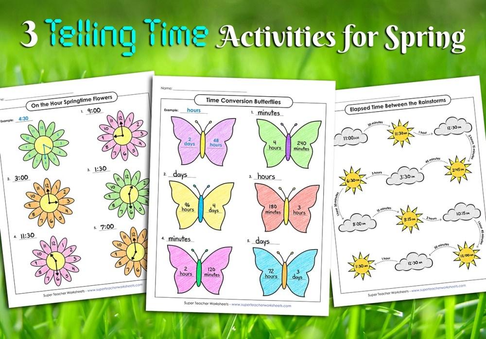 medium resolution of Spring Telling Time Activities