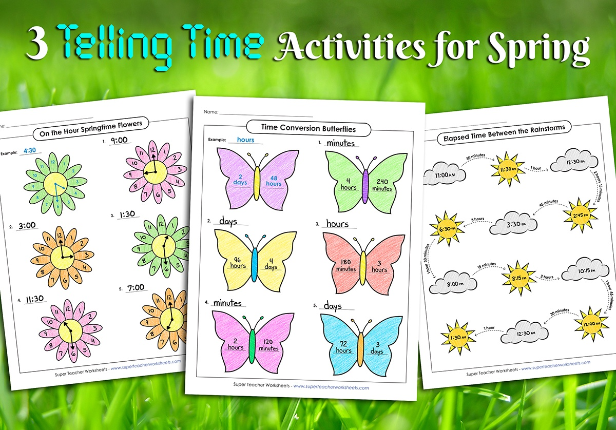 hight resolution of Spring Telling Time Activities