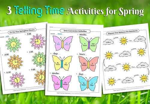 small resolution of Spring Telling Time Activities