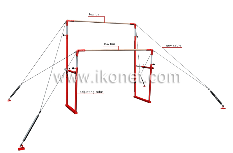 Uneven Parallel Bars Gymnastics