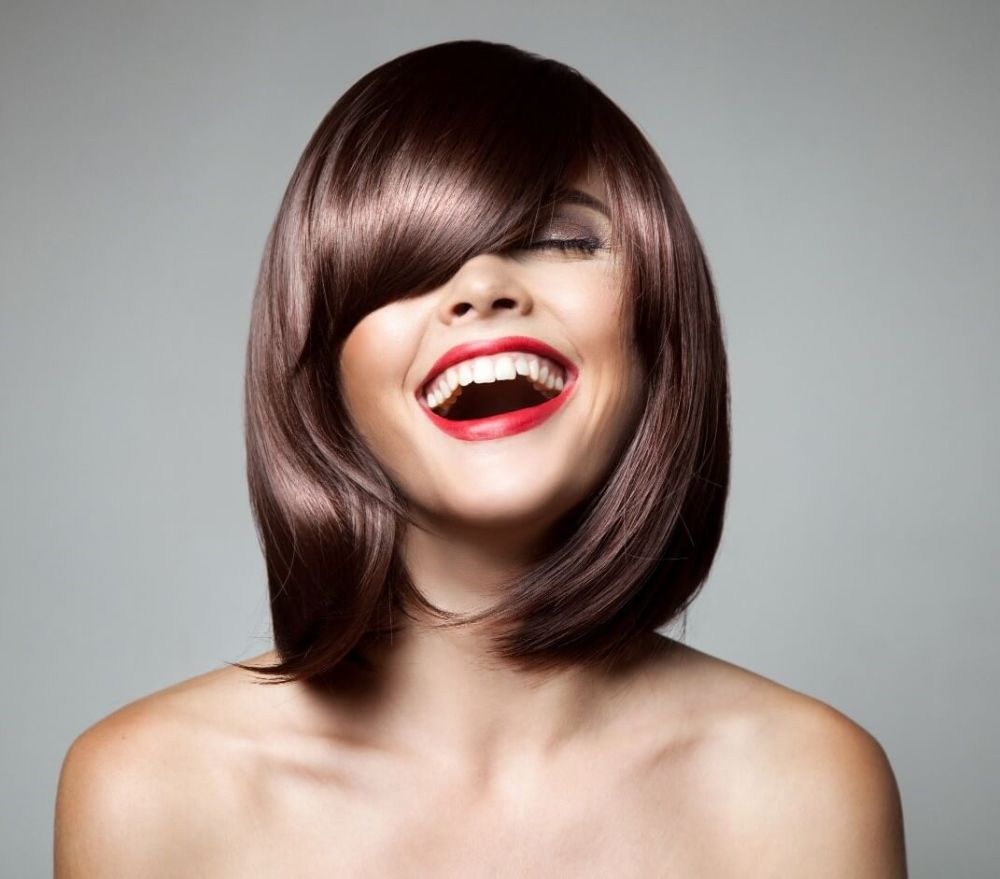 Sophisticated Short and Straight Hair with Bangs