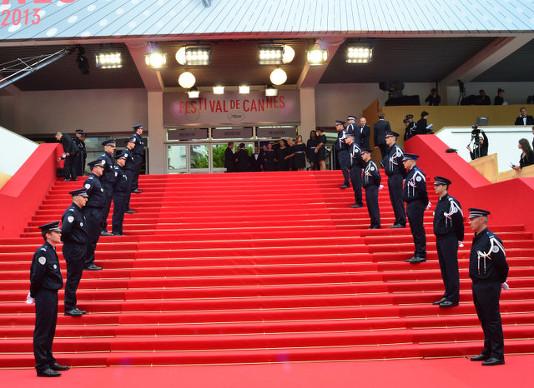 Red Carpet etiquete Palais du Film Stairs Cannes Film Festival 2013 © Joe Alvarez