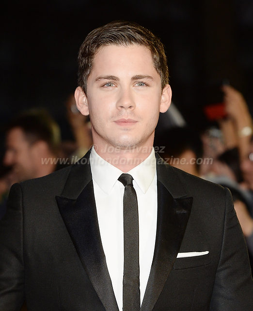 "Logan Lerman attends the premiere of ""Fury"" at the 58th London Film Festival at Odeon, Leicester Square © Joe Alvarez"