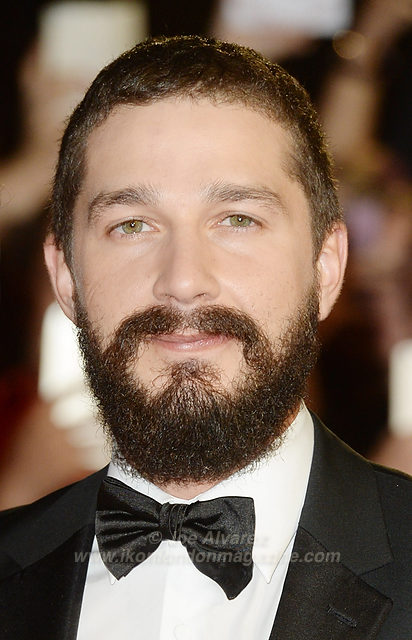 "Shia La Beouf and girlfriend attend the premiere of ""Fury"" at the 58th London Film Festival at Odeon, Leicester Square."