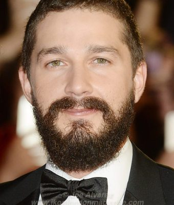 """Shia La Beouf and girlfriend attend the premiere of """"Fury"""" at the 58th London Film Festival at Odeon, Leicester Square."""
