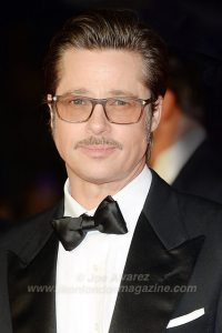Brad Pitt at the Fury London Premiere © Joe Alvarez Funny Bow tie