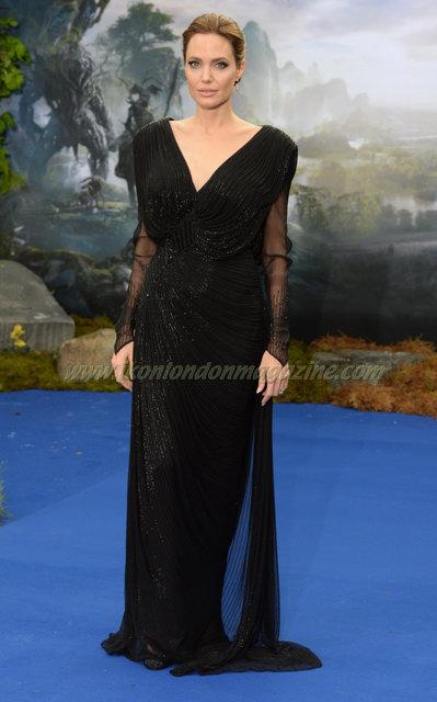 Angelina Jolie at the Maleficent screening in Kensington Palace © Joe Alvarez
