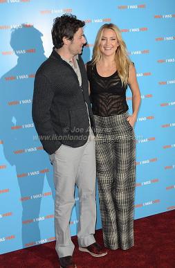 Kate Hudson & Zach Braff at the London press call of Wish I Was Here © Joe Alvarez
