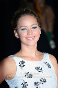 Jennifer Lawrence at the London premiere of The Hunger Games