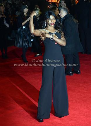 "Sinitta at the London premiere of The Hunger Games ""Mockingjay - Part 1"" © Joe Alvarez"