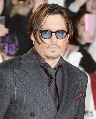 "Johnny Depp attends the premiere of ""Mortdecai"" at Empire, Leicester Square © Joe Alvarez"