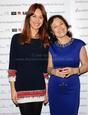 Olga Kurylenko with mother Marina Alyabusheva art exhibition © Joe Alvarez