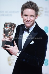 Eddie Redmayne Best Actor at BAFTA 2015 © Joe Alvarez
