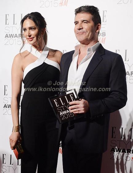 Simon Cowell & Lauren Silverman attend the Elle Style Awards Awards at the Walkie Talkie Tower © Joe Alvarez
