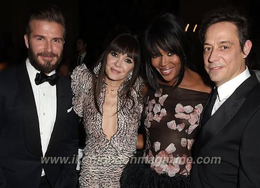 David Beckham, Annabelle Neilson, Naomi Campbell & Jamie Hince