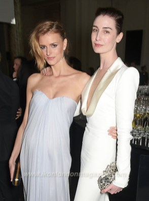 Jacquetta Wheeler, Erin O'Connor attends the Alexander McQueen: Savage Beauty Fashion Gala