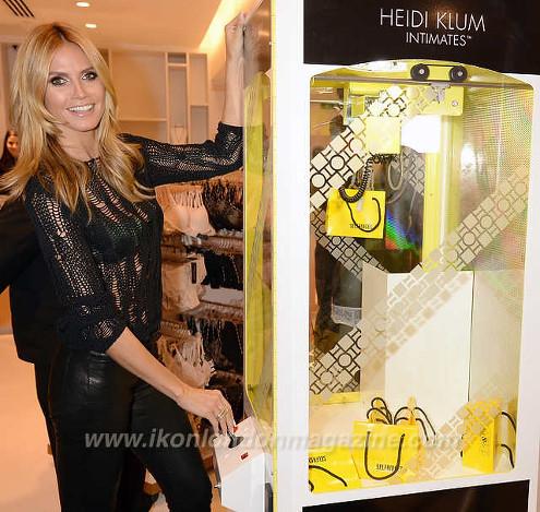 Heidi Klum Lingerie Collection Launch at Selfridges