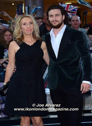 Sam Johnson Wood & Aaron Taylor Johnson arrives at the Avengers: Age Of Ultron UK Premiere © Joe Alvarez