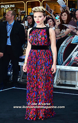 Scarlett Johanson arrives at the Avengers: Age Of Ultron UK Premiere © Joe Alvarez