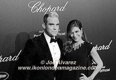 Robbie Williams and Ayda Field 68th Cannes Film Festival © Joe Alvarez Chopard Party