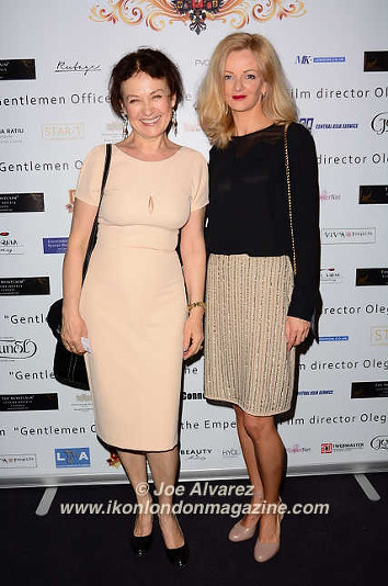 Marina Alyabusheva, Paule Lijo The Russian Royal Charity Screening of the historical film 'Gentlemen Officers: Save the Emperor' at the Grand Ballroom of Luxury Hotel