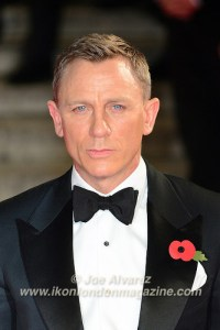 Daniel Craig at the World Premiere of Hames Bond Spectre at Royal Albert Hall © Joe Alvarez