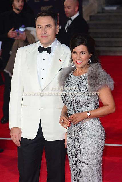DAVID WALLIAMS & SUSANNA REID at the World Premiere of Hames Bond Spectre at Royal Albert Hall © Joe Alvarez
