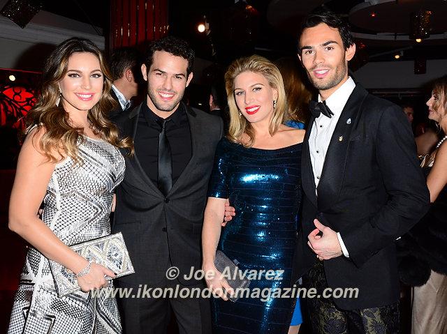 Kelly Brook, Jeremy Parisi, Hofit Golan, Mark Francis Vindelli at Eastern Season Gala at Madame Tussauds © Joe Alvarez.jpg