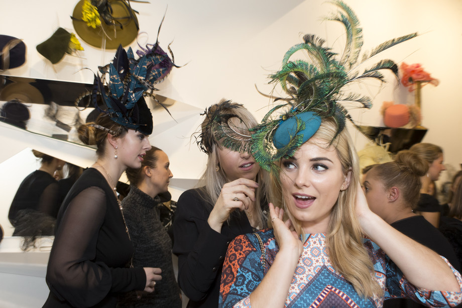 Sian Welby Jane Taylor Millinery store launch in Chelsea
