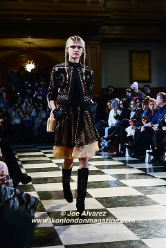 Bora Aksu AW16 London Fashion Week © Joe Alvarez
