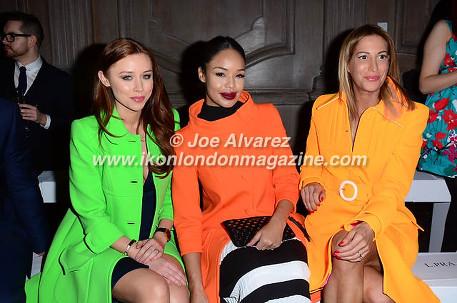 Sarah-Jane Crawford, Una Foden, Laura Pradelska Paul Costelloe AW16 Fashion Show © Joe Alvarez